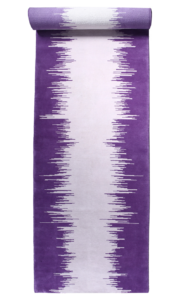 Ikat runner purple violet gris grey