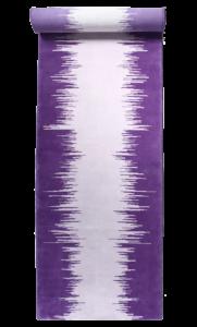 Ikat runner purple violet gris grey