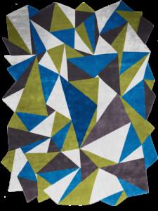 Dubuffet Blue Forest vert bleu noir foret