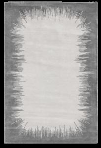Ikat tapis rug carpet grey gris silver argent